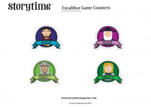 storytime_kids_magazines_free_downloads_excalibur_game_counters_www.storytimemagazine.com