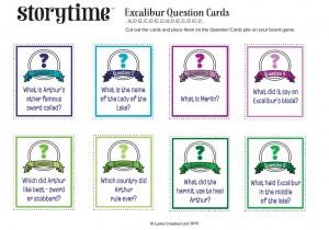 storytime_kids_magazines_free_downloads_excalibur_question_cards_www.storytimemagazine.com