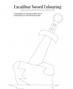 storytime_kids_magazines_free_downloads_excalibur_sword_colouring_www.storytimemagazine.com