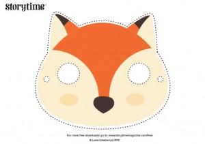 storytime_kids_magazines_free_downloads_fantastic_fox_masks_www.storytimemagazine.com/free-downloads
