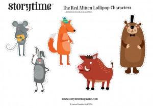 storytime_kids_magazines_free_downloads_red_mitten_lollipop_characters_www.storytimemagazine.com