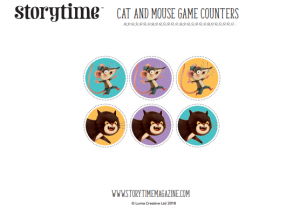 storytime_kids_magazines_free_printables_cat_mouse_counters_www.storytimemagazine.com/free-downloads