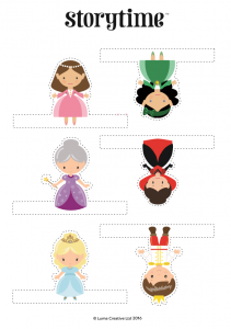 storytime_kids_magazines_free_printables_cinderella_fingerpuppets_www.storytimemagazine.com/free-downloads