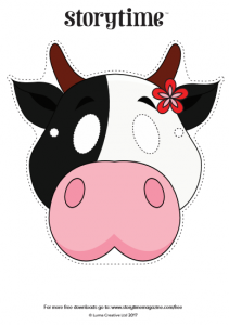 photo relating to Free Printable Cow Mask titled Storytime Journal - Cost-free Downloads, Video games a lot more