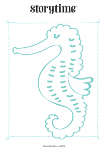 storytime_kids_magazines_free_printables_seahorse_colouring_www.storytimemagazine.com/free-downloads