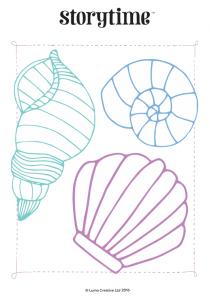 storytime_kids_magazines_free_printables_seashell_colouring_www.storytimemagazine.com/free-downloads
