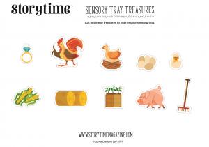 storytime_kids_magazines_free_printables_sensory_tray_treasures_www.storytimemagazine.com/free-downloads