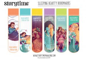 storytime_kids_magazines_free_printables_sleeping_beauty_bookmarks_www.storytimemagazine.com/free-downloads
