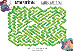 storytime_kids_magazines_free_printables_sleeping_beauty_maze_www.storytimemagazine.com/free-downloads