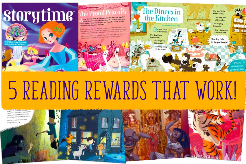 Storytime magazine, reading rewards, magazine subscriptions for kids,