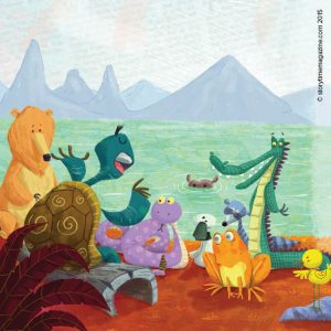 Fables for kids, Storytime magazine, magazine subscriptions for kids, The Tortoise and the Geese