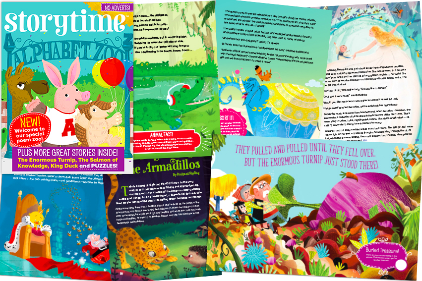 kids magazine subscriptions, magazine subscriptions for kids, new stories, alphabet zoo, enormous turnip