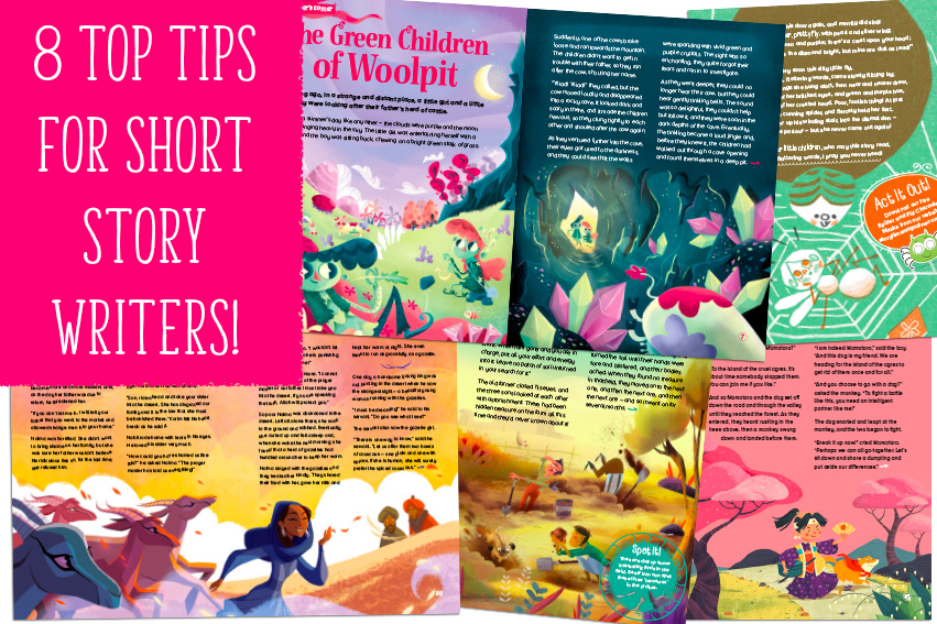 Tips for short story writers, kids magazine subscriptions, storytime magazine