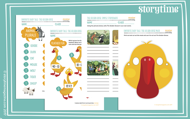 Storytime magazine, free printables, Golden Goose, teaching resources, lesson ideas, downloads