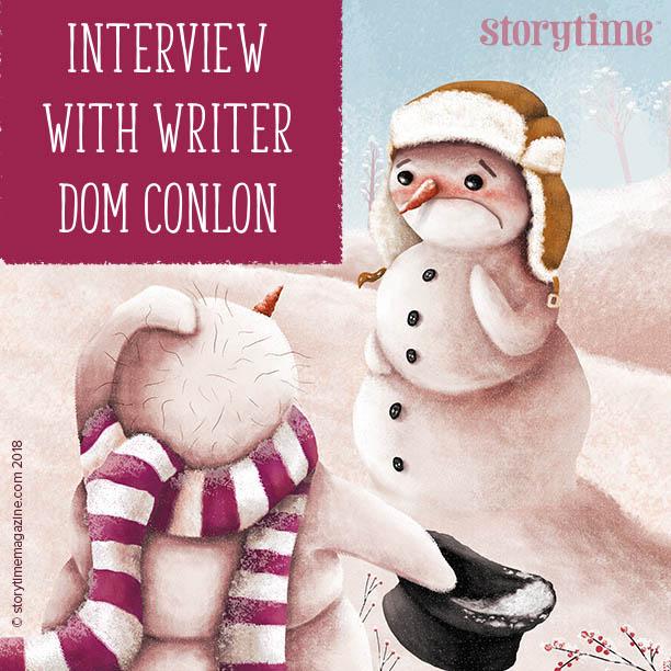 storytime magazine, kids magazine subscriptions, magazine subscriptions for kids, writer interview, dom conlon, hairy snowman, christmas stories