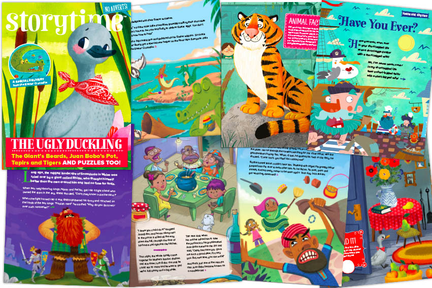 kids magazine subscriptions, magazine subscriptions for kids, storytime issue 43 - out now, ugly duckling, easter stories, bedtime stories