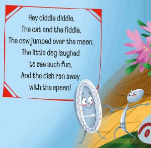 Hey Diddle Diddle in Storytime Issue 44 with art by Begona Fernandez Corbolan.
