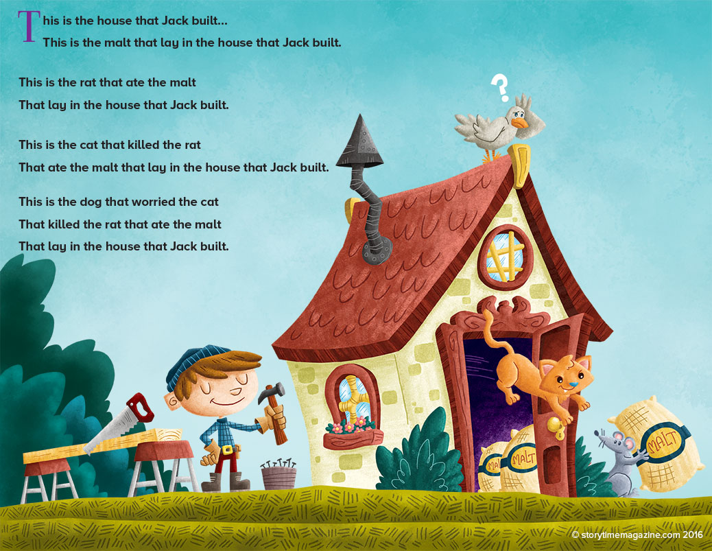 nursery rhymes, storytime magazine, hey diddle diddle, house that jack built
