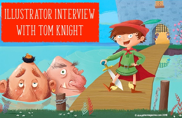 illustrator interview tom knight, storytime magazine, storytime issue 45, jack the giant killer