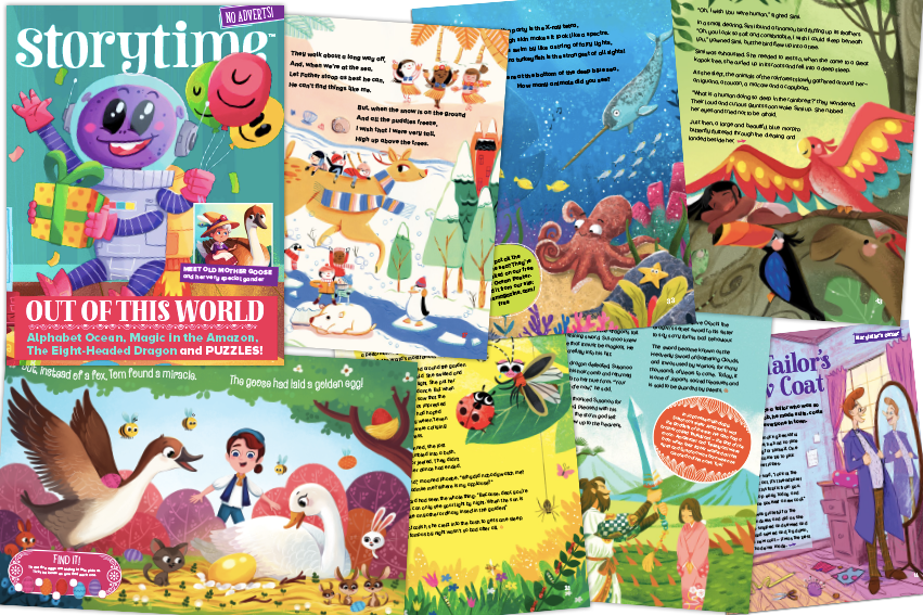 Storytime issue 46, uk's only story magazine, stories for kids, bedtime stories, magazine subscriptions for kids, gift subscription ideas, kids magazine subscriptions