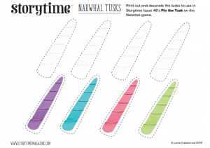 storytime_kids_magazines_free_printables_narwhal_tusks_www.storytimemagazine.com/free-downoads