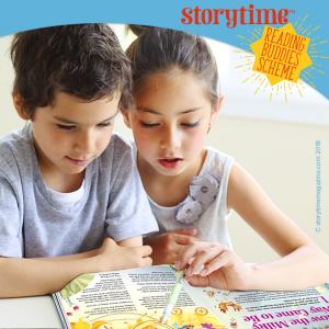 reading buddies, storytime reading buddies scheme, reading scheme, paired reading, peer-to-peer reading, storytime magazine, magazine subscriptions for kids, uk's only story magazine