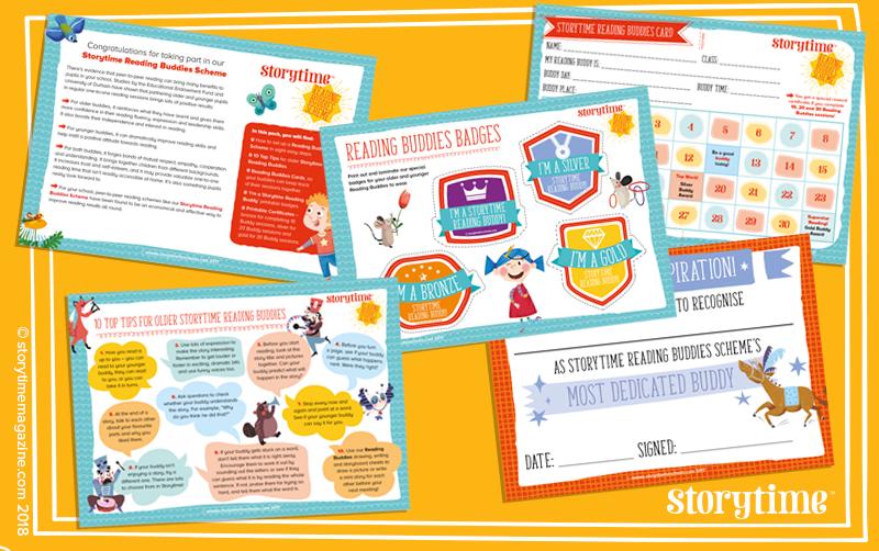 Storytime, Reading Buddies Scheme, school magazines, magazines for school, reading schemes, paired reading
