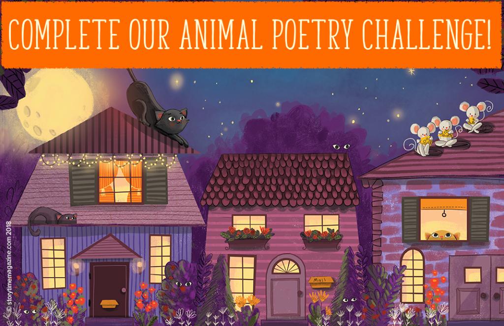 Animal Poetry Challenge, Storytime magazine, kids magazine subscriptions, gift subscriptions for kids, educational magazines, children's poetry, kids poetry