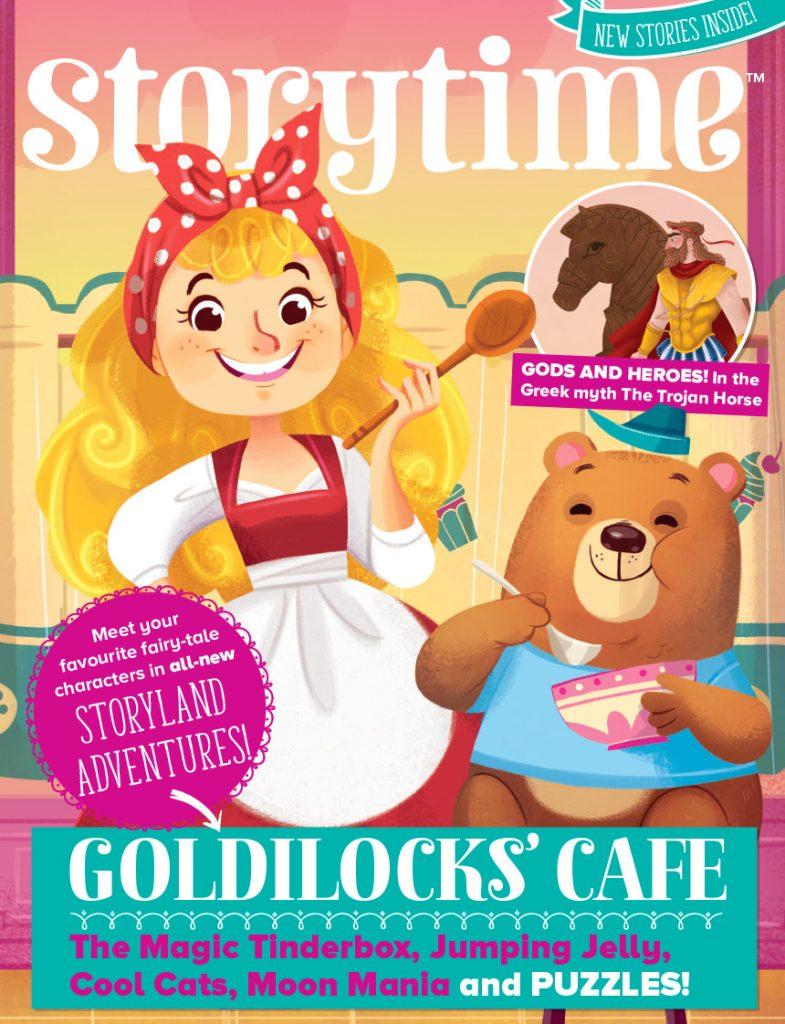 Illustrator Interview: Giorgia Broseghini, kids magazine subscriptions, storytime magazine, storytime issue 49, goldilocks, fairytales