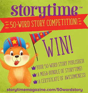 50-word story competition, storytime issue 50, storytime, kids writing competition, kids magazine subscriptions