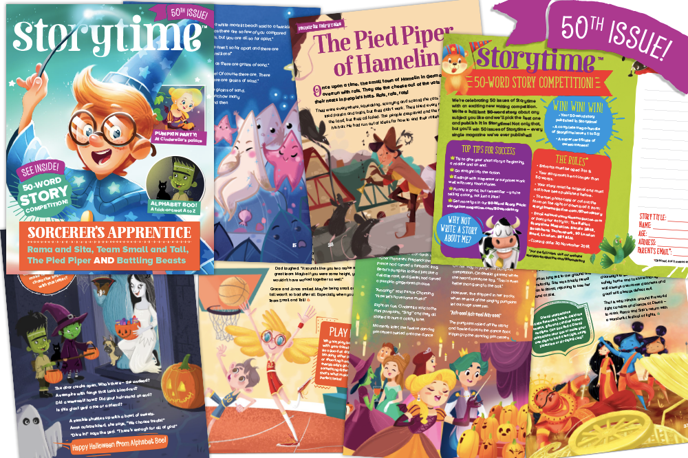 kids magazine subscriptions, Storytime Issue 50 is out now, storytime, 50 word story competition, kids writing competition, gift subscriptions for kids, kids magazine subscriptions