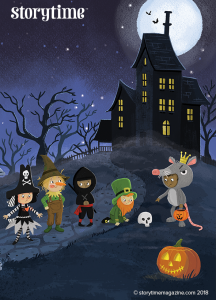 Storytime Issue 50, Alphabet Boo, Halloween poem, Tim Budgen, magazine subscriptions for kids