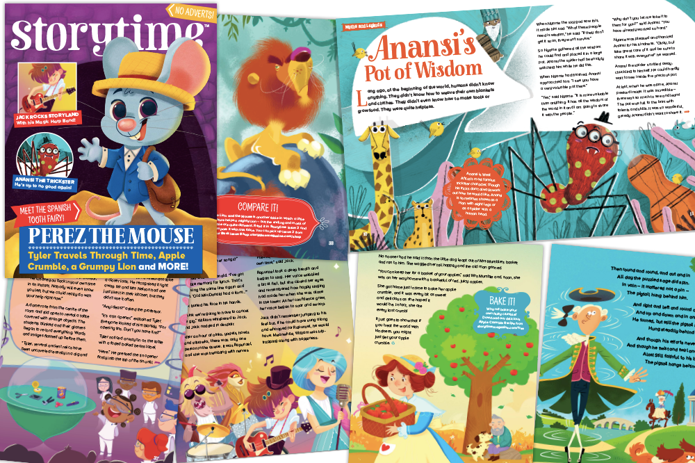 Storytime Issue 51, magazine subscriptions for kids, kids magazine subscriptions, Christmas gift subscriptions for kids, Christmas gifts for kids, Perez the Mouse